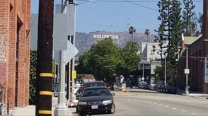 The famous Hollywood sign on Mt. Lee