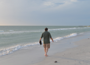 St. Pete Beach is great for taking long walks along the shoreline.