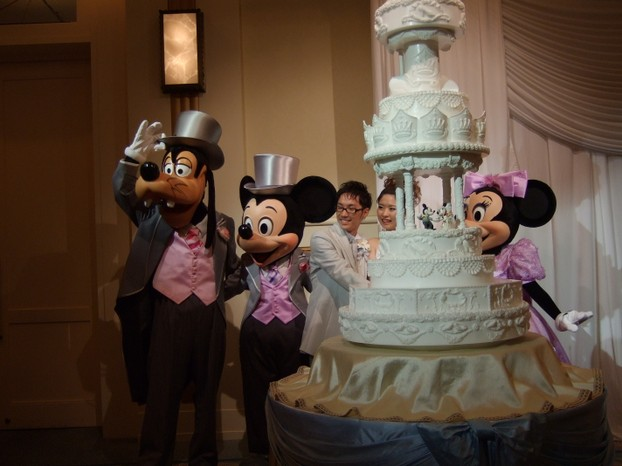 Mickey and Minnie Wedding Mascots