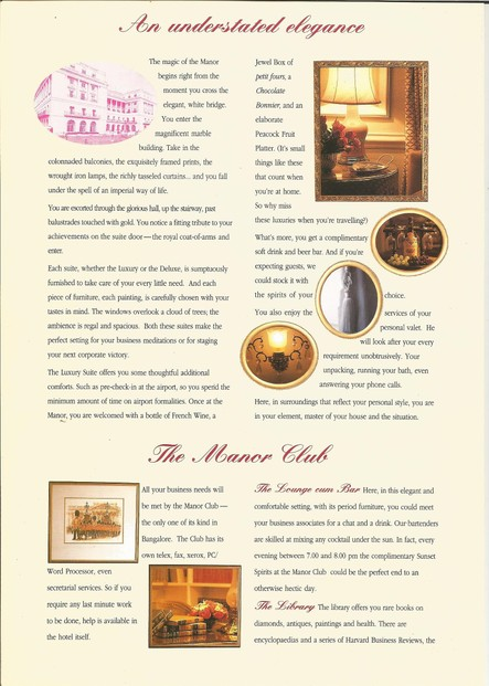 Page 1 of Windsor Manor Brochure to CEOs