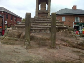 Lymm Cross, steps and stocks