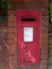 King George V post box