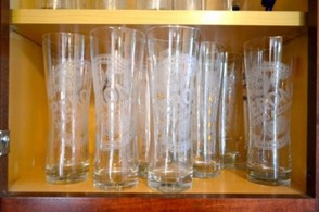 Peroni pint glasses. Yes, we have a lot of them.