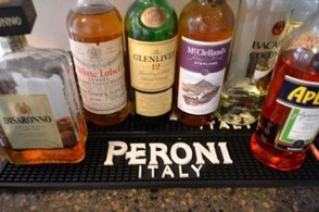 Peroni bar mats. They're great for our own home bar, and easy to clean too.