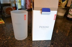 Peroni candle jars.