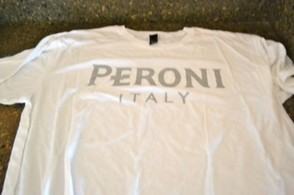 Peroni t-shirt featuring Egyptian cotton. Super comfy and soft!