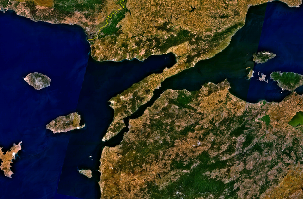 Gallipoli in Turkey from space