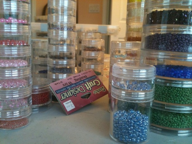 Keeping your beads well organized is important, and will save you work in the long run.