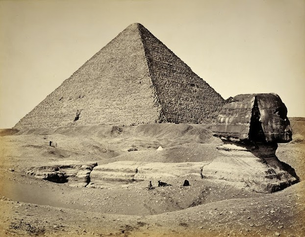 The Sphinx and the Great Pyramid. Francis Frith, 1858.