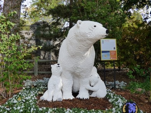 Polar Bear Lego Sculpture