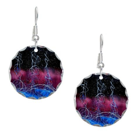 """Solar Flare"" earrings"