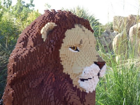 Lego Lion Sculpture