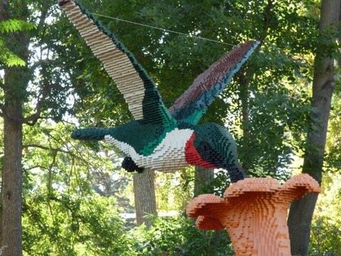 Lego Hummingbird Sculpture
