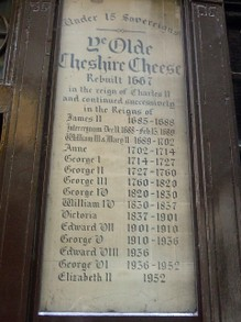 The Olde Cheshire Cheese and the Ruling Monarch