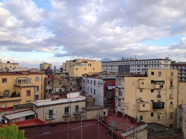 A view of Naples from my rental apartment, January 2014.