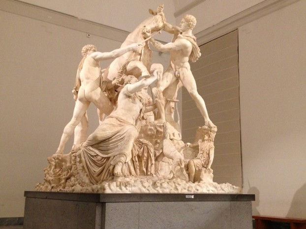The Farnese Bull at the Museo Archeologico Nazionale Napoli - the largest single sculpture recovered from antiquity