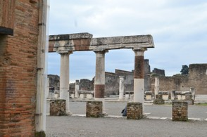 The ruins of Pompeii--an easy day trip from Naples.