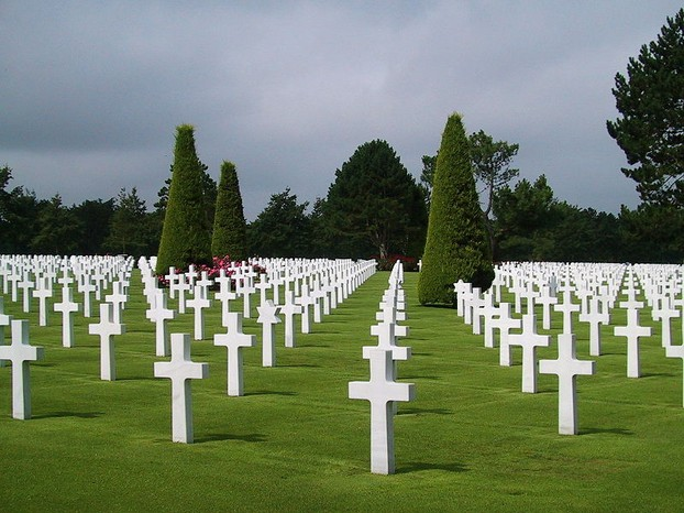 Small section of Omaha Beach Cemetery