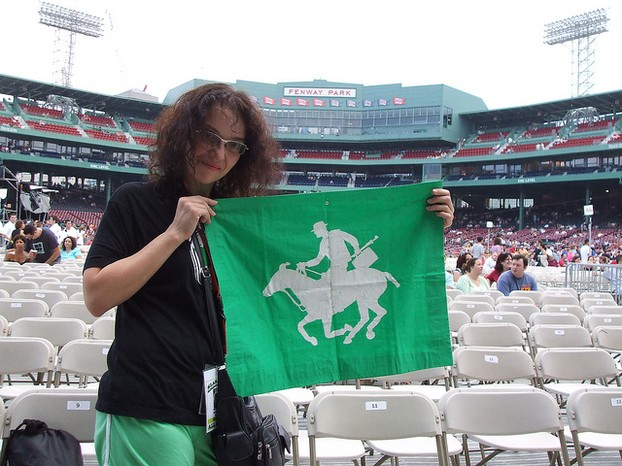 The author at Fenway Park, July 2007, for a concert at Fenway Park
