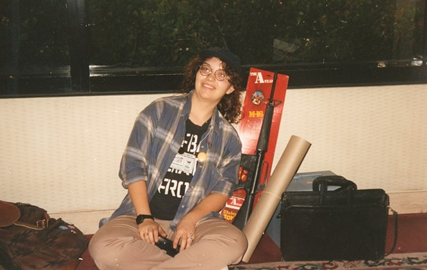 The author in her Murdock gear at a convention.