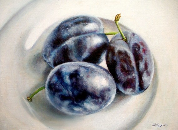 Still Life with Three Plums