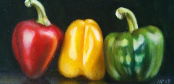 Still Life with Three Peppers