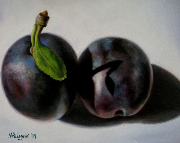 Still Life with Two Plums
