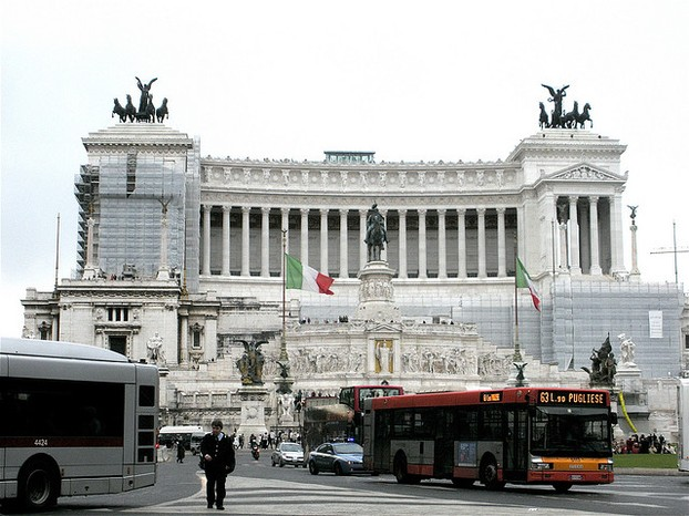 Rome is very large, so you'll need to consider taxis or buses to get around on occasion.