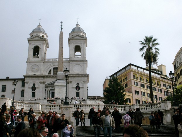 The Spanish Steps are popular with tourists...and also con artists, if you're not careful.