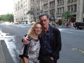 With John in NYC, after a show