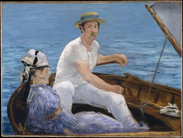 """Boating"" 1874 oil on canvas by Édouard Manet"