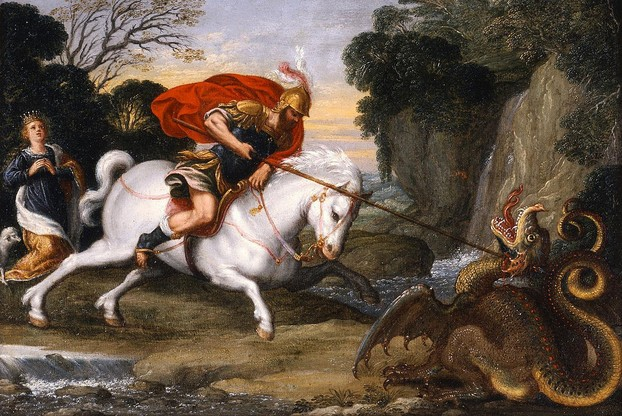 """Saint George defeating the Dragon"" by Johann König"