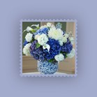 match blue flowers with any color