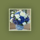 match blue flowers