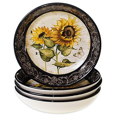 Sunflower Serving Bowls Will Brighten any Dinner