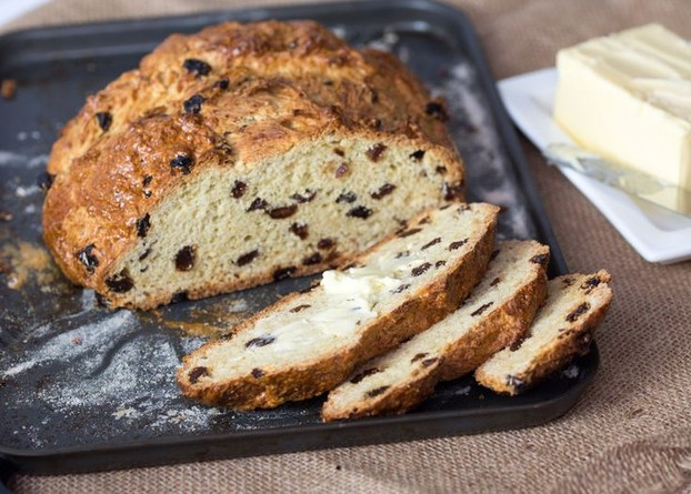 Fruit soda bread, often eaten on Christmas Eve