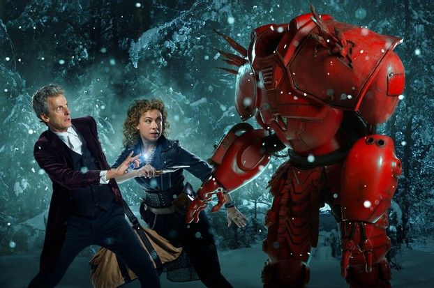 The Doctor and River Song have cyborg problems