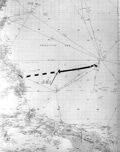 Chart of Final Voyage of USS Indianapolis