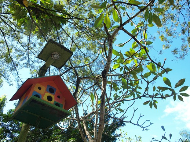 A wood birdhouse would be a romantic anniversary gift for a gardener!
