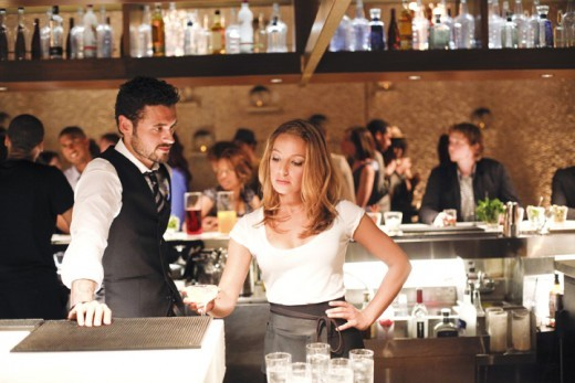 Vanessa Lengies in her role as Lacey in Mixology.