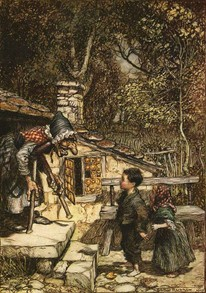 Hansel and Gretel by Arthur Rackahm