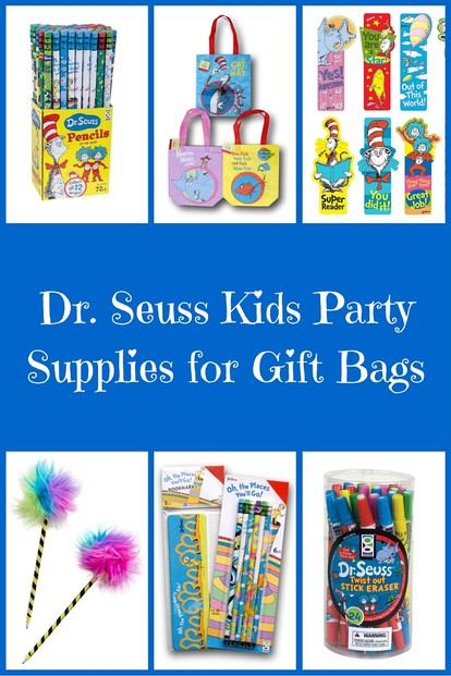 Dr. Seuss Kids Party Supplies for Gift Bags