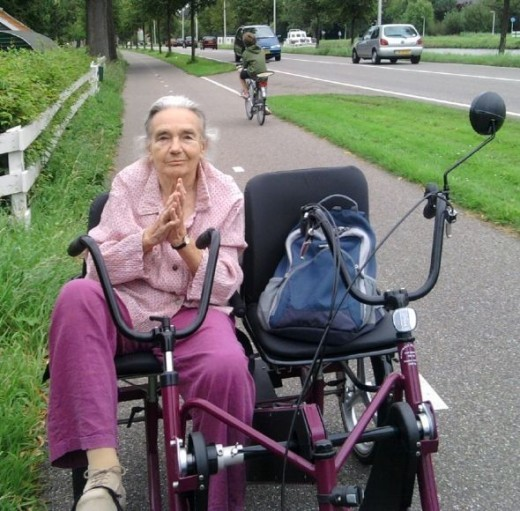My grandmother on an adult tricycle - Do they really call these trikes?