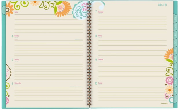 At-A-Glance Academic Weekly / Monthly Planner - Garden Party