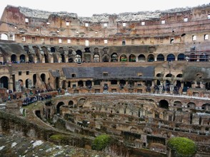 Interior of Colosseum showing Five Levels