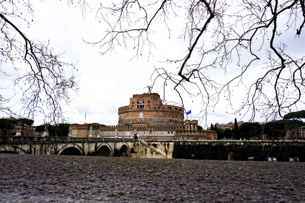 Castel Sant''Angelo from across the Tiber