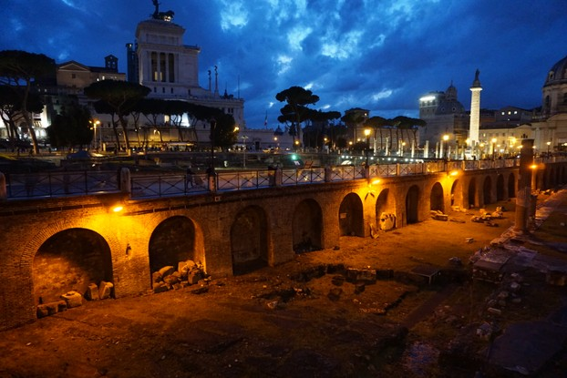Roman Forum, nightime