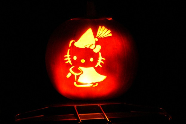 Gorgeous Kitty Pumpkin