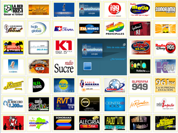 Screenshot of Spanish Radio