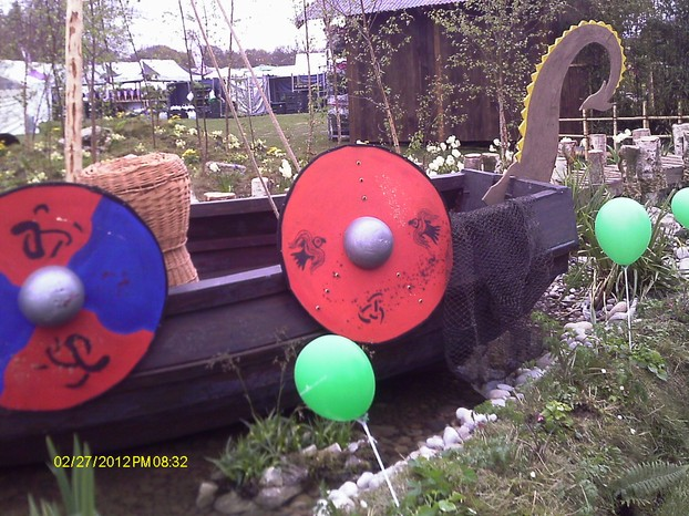 A Viking Ship Garden
